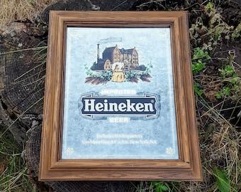 Vintage Heineken Beer Bar Mirror