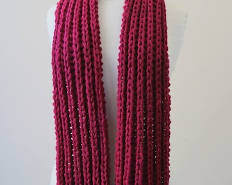 Chunky hand knitted scarf