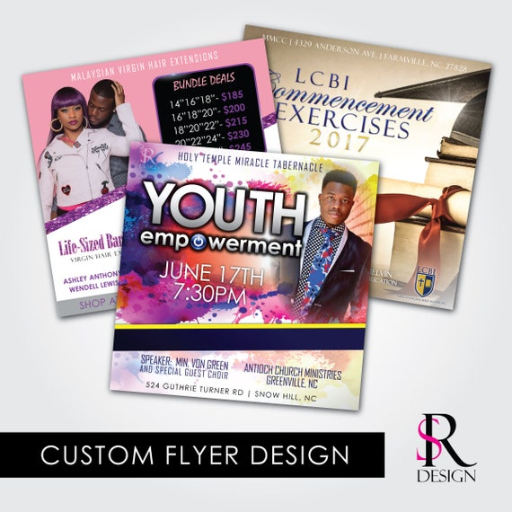 Digital Flyer Design, Printable Flyers, Social Media Flyers