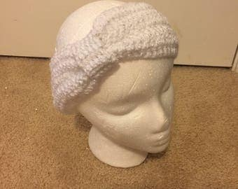 White Sparkle Knotted Headband