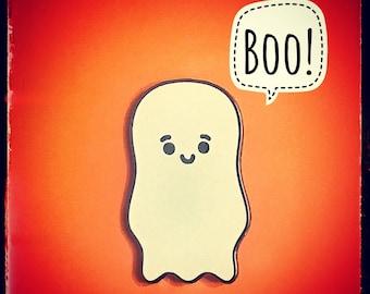 Sale Ghost Enamel Pin / Halloween Lapel Pin