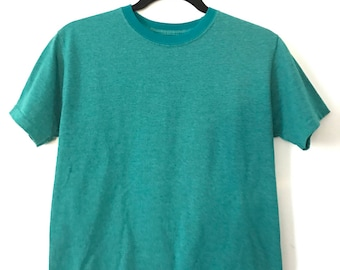 Vintage Youth XL Worn In Teal T-Shirt