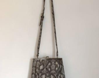 Faux Snakeskin Leather Bag Vintage
