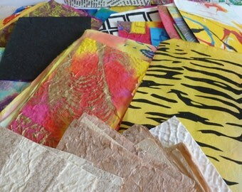 1 kg assorted handmade paper scraps /collage/junk journals/mixed media/card making/home decor