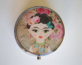Pill box - Frida Kahlo - Pill case - Pill container - Frida Kahlo pill box -  Mint case - Candy container - Frida Kahlo box - Little box