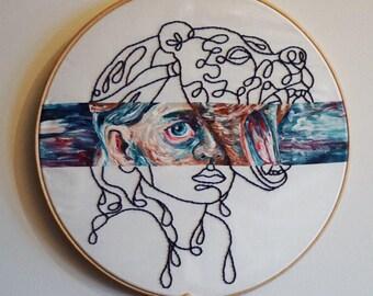 A girl's courage / Original art