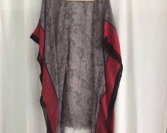 Gray cotton kimono