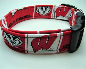 University of Wisconsin Badgers Dog Collar