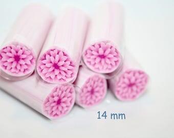 Pink Dahlia Polymer Cane