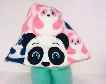Panda bear hooded blanket