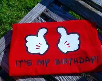 Mickey mouse birthday shirt mickey t-shirt disney birthday shirt disney birthday boys mickey t-shirt boys mickey shirt mickey thumbs up
