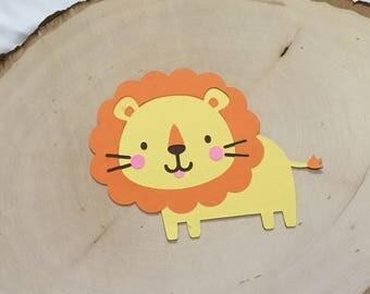 Scrapbook Embellishment, Lion Die Cuts - Set of 4
