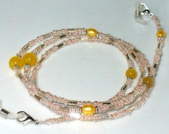 Eyewear necklace nude, yellow (138)