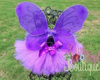 Purple Butterfly Wings with Tutu -  Butterfly Tutu Set