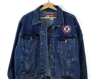 Vintage Wrangler Blue Denim Jacket /Jean Jacket  from 90's