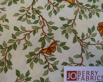 Butterflies, Branches and Leaves by Felicia Gallo by Ivy Lane for Quilting Treasures.   Part of Serenity PrayersCollection.