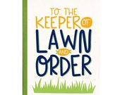Funny Father's Day Card - Keep of Lawn & Order - Birthday Card for Dad - Card for Grandpa