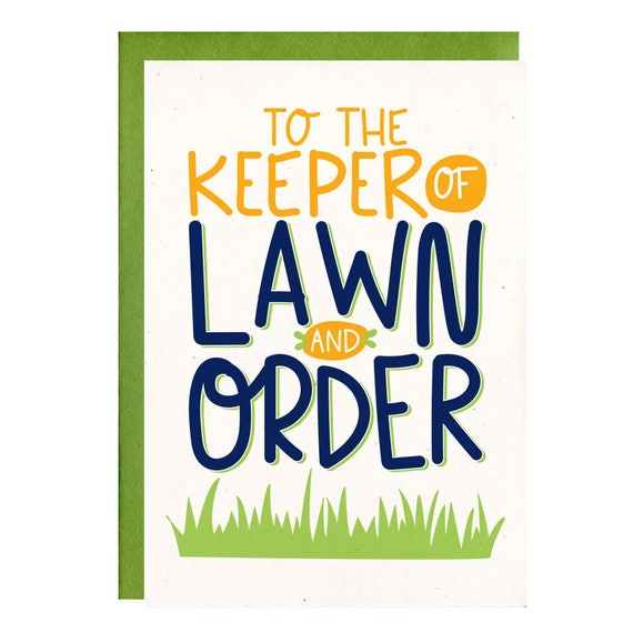 Funny Fathers Day Card Keep Of Lawn Order Birthday Card For
