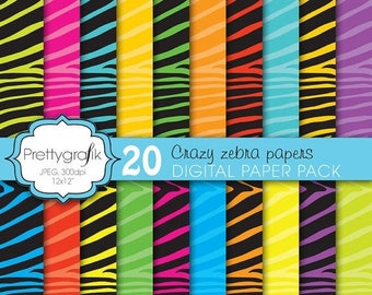 80% OFF SALE zebra print digital paper, commercial use, scrapbook papers, background - PS617