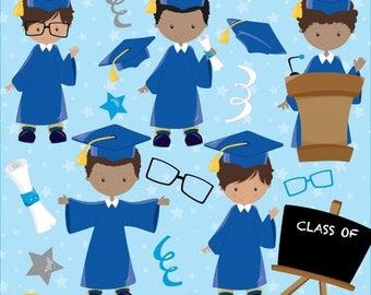 80% OFF SALE Graduation boys clipart commercial use, vector graphics, digital clip art, digital images - CL788