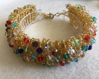 Gold magic carpet bracelet