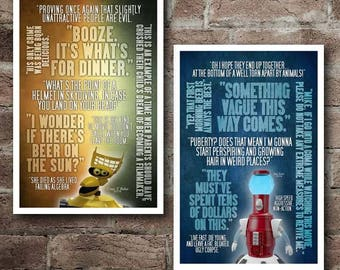 MST3K Crow T Robot and Tom Servo Quotes COMBO PACK: Free Shipping*