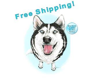 Husky, Siberian Husky, Husky Gifts, Husky Art, Husky Dog, Husky Print, Siberian Husky Art, Husky Portrait, Husky Painting, Dog Art