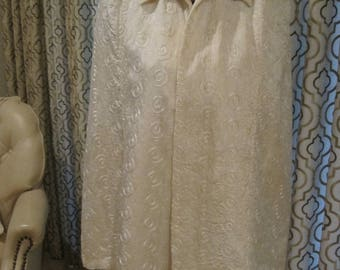 WHITE EVENING CAPE Wedding Quilted  1940/50's