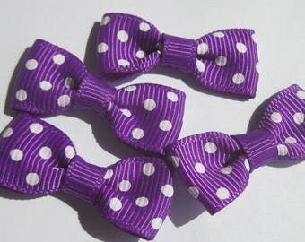 4 nodes in purple color fabric with dots-33 mm (27)