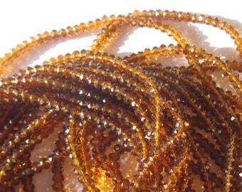 SET reserved for Nathalie 3-4 mm faceted glass beads