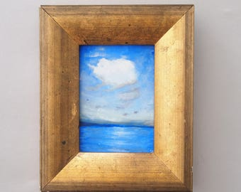RESERVED FOR cjurney1      Framed Seascape Oil Painting
