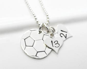 Soccer Ball Necklace for Soccer Mom of Two Soccer Players