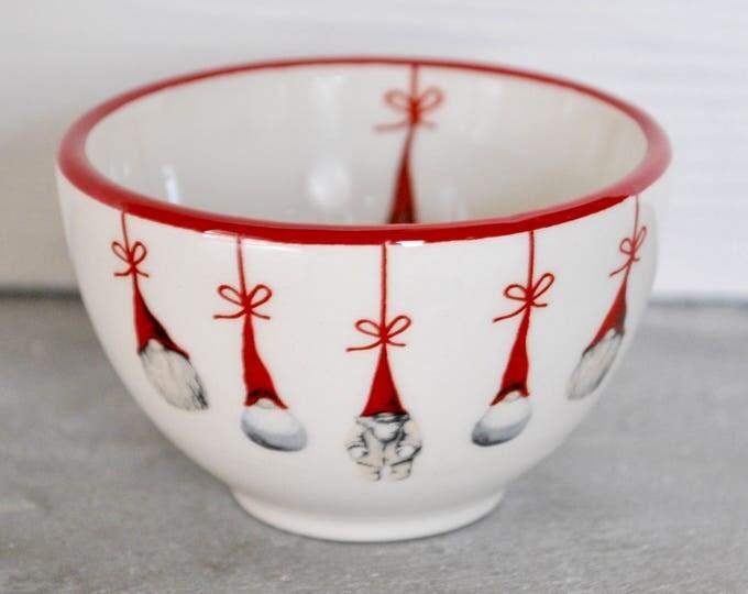 Swedish Modern Tomte Bowl or Tea Light Holder Christmas Jul