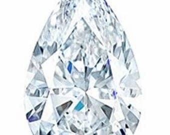 8x5 Pear Moissanite Forever One DEF color (DEW 0.94ct)