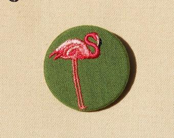 Pink Flamingo brooch