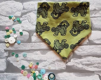Cheeky Monkey bandana bib, bib, dribble cloth