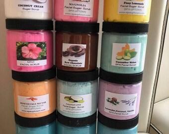 12 Jars Of Facial Sugar Scrubs - LIQUIDATION SALE - Handmade By SPA Uptown 3.00 each jar, 4 oz jars