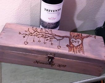 Wedding Wine Box - Wine Box Ceremony - First Fight box - Anniversary gift - Shower & Weddings Wine Box Wine Ceremony Love Letter Box First Aboutintivar.Com
