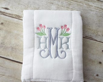 Monogrammed Baby Burp Cloth | Burpie | Burp Rag |