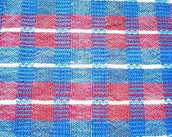 Blue Plaid Collection, Tea Towel # 2, Blue, Plum, White - Plaid Pattern