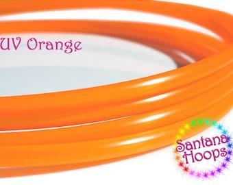 "3/4"" UV Orange polypro Hula Hoop"