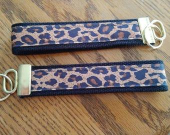 Leopard print Key Fob