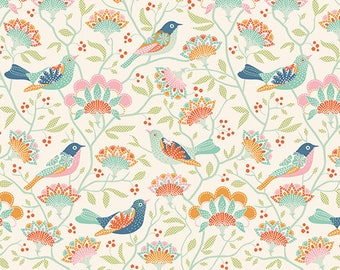 Tilda Harvest Bird Tree Ginger|Tilda fabric|Tilda Harvest Fabric|online quilting fabric Australia