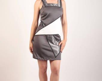 Grey cotton dress Texsanne