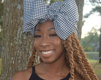 Large Gingham Headwrap