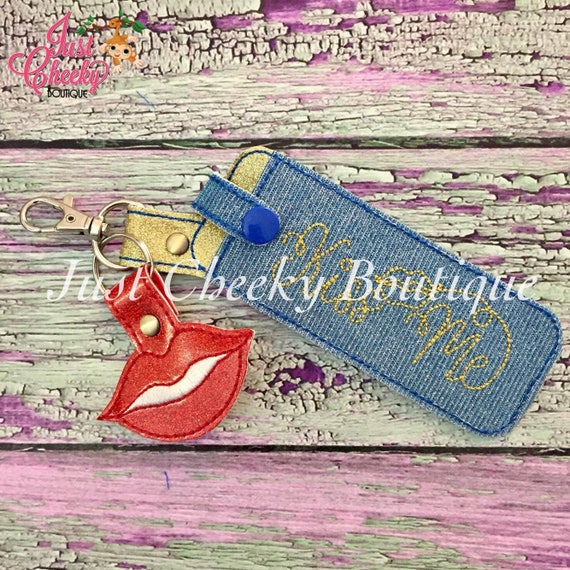 Tall Lipstick Keychain - LipSense Keychain - Lip Gloss Holder - Lipstick Holder - Lipsense Key Chain Holder - LipSense Keychain - Kiss Me