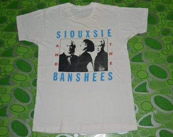 Vintage 90s SIOUXSIE And THE BANSHEES  Tour Concert Promo album very rare 80s T-shirt