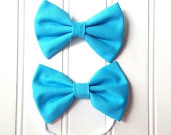 Blue Bird Bow on Clip *or* One Size Nylon Headband