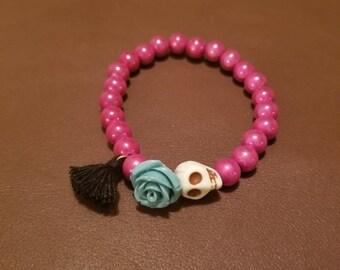 Dia de los Muertos stretchy bracelets