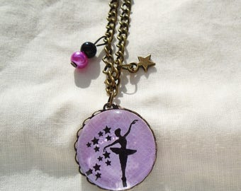 Necklace cabochon like a star dancer